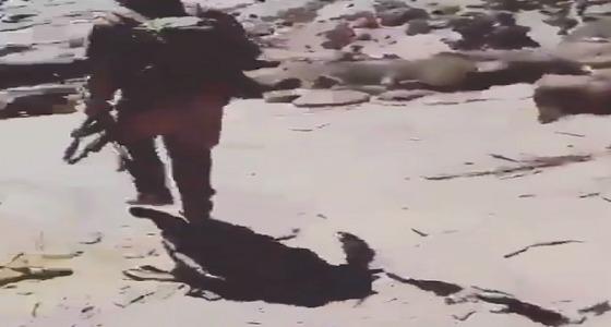 فيديو.. أبطال الحد الجنوبي في مناوشة مع إرهابين في نهار رمضان
