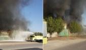 بالصور.. اندلاع حريق بمستودعين للأثاث المكتبي بالدمام