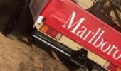 """"""" مركبة مارلبورو """" .. قائد سيارة يخالف نظام المرور بالجوف"""