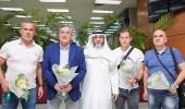 بالصور..وصول إيفانكوفيتش والطاقم الفني المساعد له إلى مطار الملك عبدالعزيز