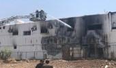 اندلاع حريق بمصنع رخام يسفر عن إصابة عامل .. ومدني المدينة يتدخل