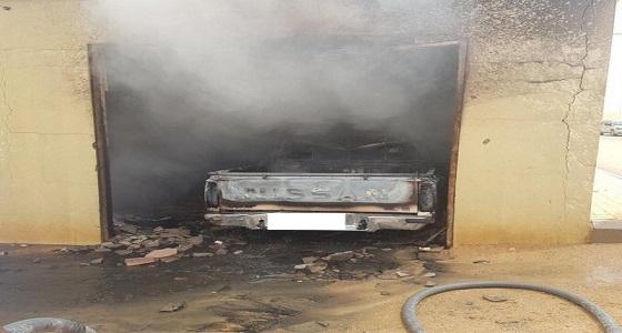 """اندلاع حريق في مركبة مواطن بـ """" البديع """" يغضب الأهالي"""