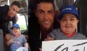 بالفيديو.. رونالدو يوقف حافلة منتخب البرتغال لاحتضان طفل مريض