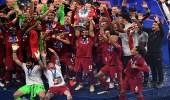 """دوري أبطال أوروبا.. ليفربول يحتفل بالعربية: """" أهو جانا العيد """""""