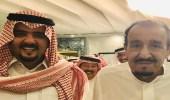 شاهد.. خادم الحرمين بدون شماغ مع ابن أخيه في جدة