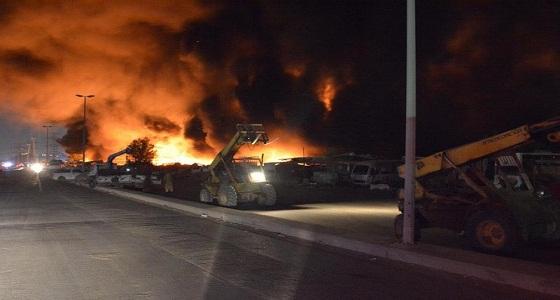 حريق في مستودع لتخزين المعدات بجدة