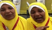 بالفيديو.. حاجة تجهش بالبكاء بعد وصولها المدينة المنورة