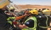 """ مدني سكاكا "" ينقذ عاملين سقا داخل خزان مياه"