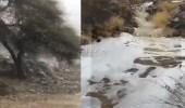 بالفيديو.. مشهد جمالي لبردية الفقرة وشلالات الأمطار غرب المدينة المنورة