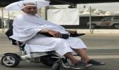 مواطن يستعيد ذكرياته مع الحج ويوضح سبب جلوسه على كرسي كهربائي