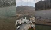 فيديو رائع لهطول الأمطار على غرب أبها