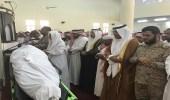 بالصور.. حشود غفيرة تؤدي صلاة الجنازة على الشهيد الجعفري بصبيا