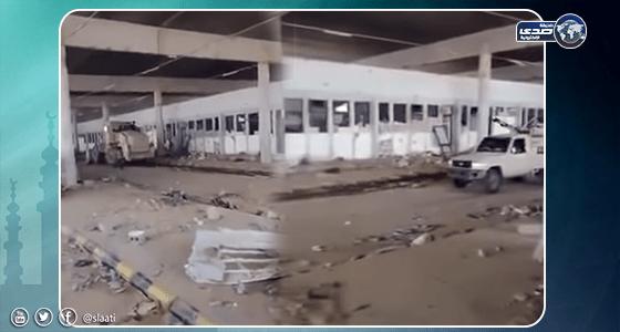 بالفيديو.. تنظيف المنفذ الأبرز الذي يربط اليمن بالمملكة بعد تحريره من «الحوثي»