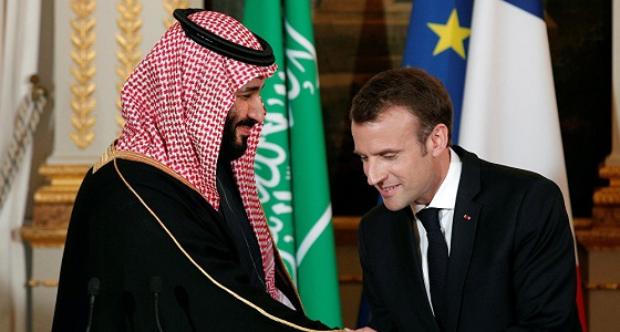 تفاصيل المكالمة التي تلقاها ولي العهد من الرئيس الفرنسي