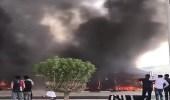 بالفيديو .. حريق هائل بمستودعات لبناء الخيام بحفر الباطن والدفاع المدني يباشر