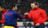 بيكهام يحاول إقناع ميسي بالرحيل عن برشلونة