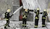 بالصور.. وفاة شخصان إثر حريق شب في حراج المعيصم بمكة