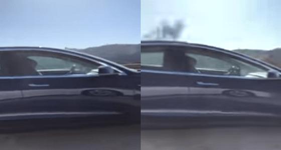 بالفيديو.. يغط في نوم عميق أثناء قيادة السيارة بسرعة 132 كم ورعب على الطريق