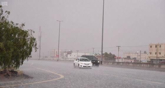 تنبيه..استمرار هطول أمطار على 4 مناطق
