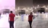 بالفيديو..صاعقة رعدية بالقرب من «الحرم المكي» مع استمرار غزارة الأمطار