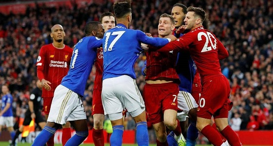 بسبب«سلوك استفزازي»..مباراةليفربول وليستر سيتي تنتهي بمعركة بين اللاعبين