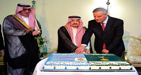 سمو أمير منطقة الرياض يشرف حفل سفارة جمهورية الأورغواي الشرقية