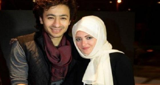 أول ظهور لزوجة حمادة هلال بعد خلع الحجاب
