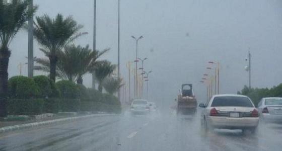 هطول أمطار غزيرة على طريق مكة - جدة السريع