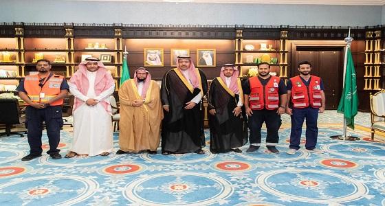 أمير الباحة يدشن مركز اسعاف بني حسن