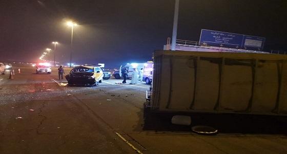 حادث تصادم بطريق عرفة يسفر عنإصابة 5 أشخاص في مكة