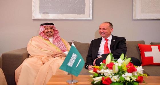 أمير الرياض يشرّف حفل سفارة جمهورية سويسرا لدى المملكة