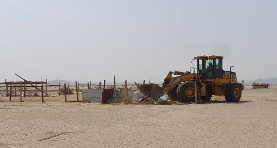 إزالة تعديات بمخطط ولي العهد (9) جنوب مكة