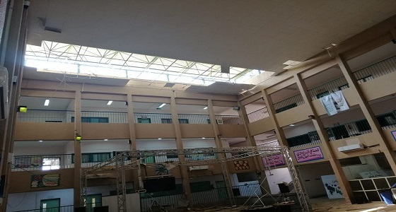 إخلاء مدرسة بعد سقوط أجزاء من السقف بالقنفذة