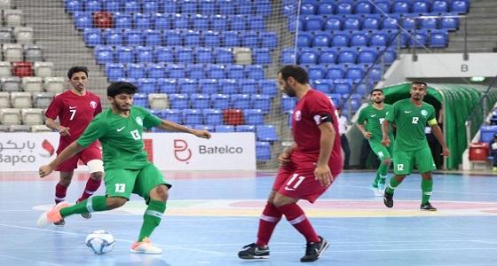 أخضر الصالات يهزم قطر بحضور الامين