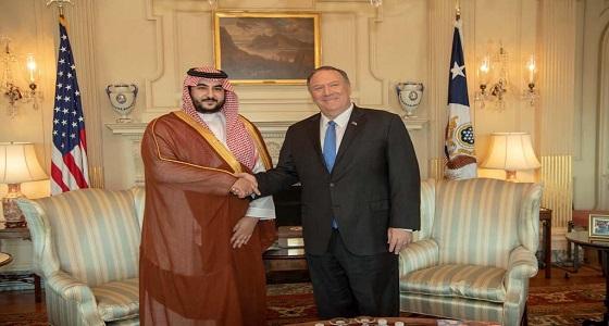 تفاصيل لقاء الأمير خالد بن سلمان بوزيري الخارجية والدفاع الأمريكيان