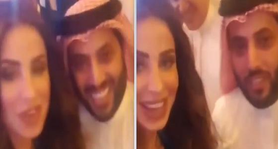 بالفيديو..حوار قصير بين تركي آل الشيخ وملكة جمال لبنان