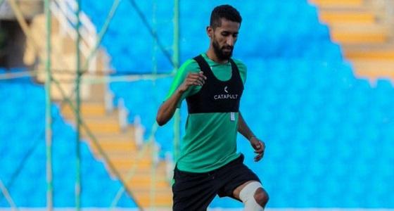 الفرج يشارك في تدريبات الأخضر استعدادًا لمواجهة فلسطين