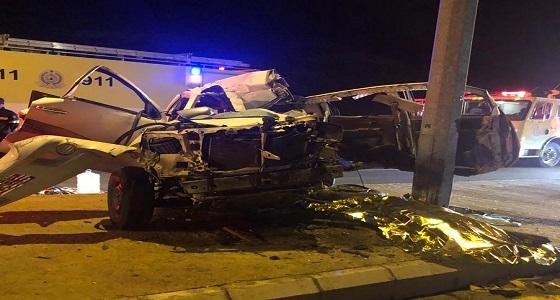 بالصور.. وفاة وإصابة 4 أشخاص في حادث تصادم بمكة