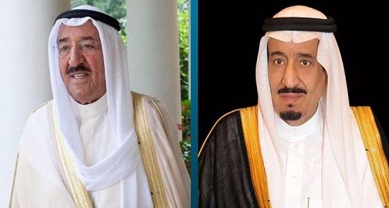 خادم الحرمين يتلقى برقية تهنئة من أمير دولة الكويت بعد توقيع اتفاق الرياض