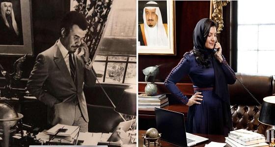 شاهد.. جانب من طفولة الأميرة ريما بنت بندر مع والدها في أمريكا