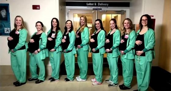 حمل جماعي يثير الدهشة لـ 8 ممرضات في نفس المستشفى