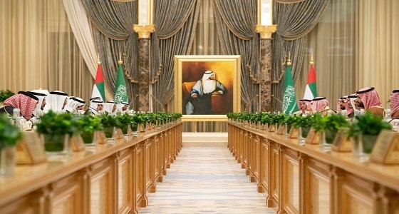انعقاد اجتماع مجلس التنسيق السعودي الإماراتي برئاسة ولي العهد ومحمد بن زايد