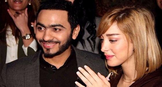 صورة رومانسية لبسمة بوسيل وتامر حسني تخطف الأنظار بمواقع التواصل