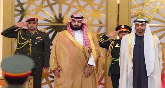 بالفيديو.. موكب مهيب لاستقبال ولي العهد لحظة وصوله الإمارات