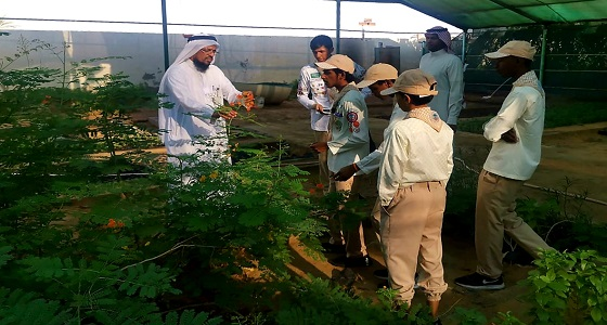 كشافة تعليم جدة تزور مشتل بيئة مكة المكرمة