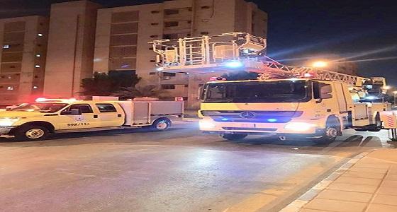 إصابة 7 أشخاص إثر اندلاع حريق في مجمع سكني بالخبر