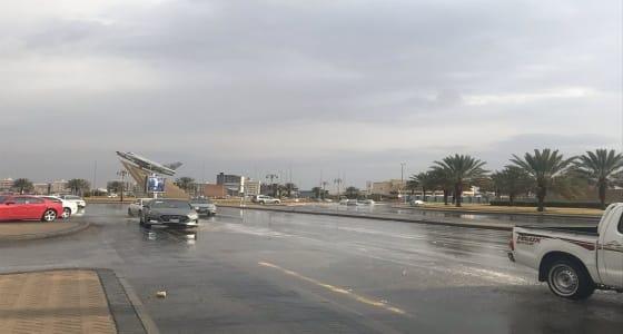 أمطار متفرقة على منطقة تبوك