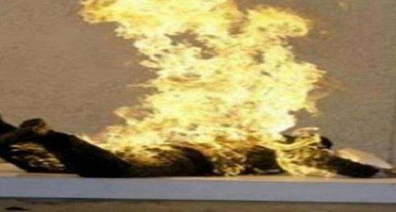 زوجة تشعل النيران في زوجها بسبب الإنترنت