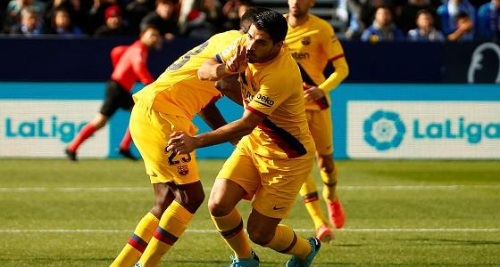 بالفيديو.. برشلونة يفوز على ليغانيس ويحافظ على الصدارة