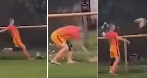 بالفيديو.. لاعب كرة قدم يخضع للمحاكمة بسبب «دجاجة»